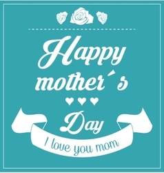 Mothers day design vector image