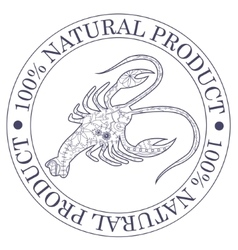 Natural product stamp with cancer vector image