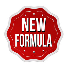 new formula label or sticker vector image