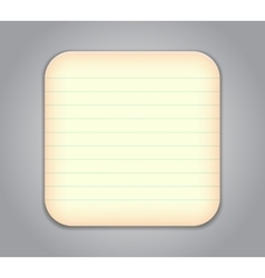 notepad app icon vector image