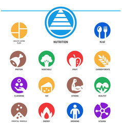 Nutrition icon vector