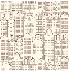 Old buildings vector