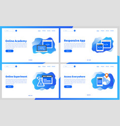 online academy or online education apps simple ui vector image