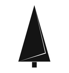 origami fir tree icon simple black style vector image