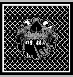 pattern bandana skull vector image
