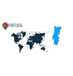 portugal location modern map for infographics all vector image