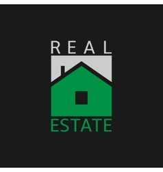 Real estate label vector image