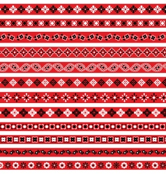 Red bandana borders vector
