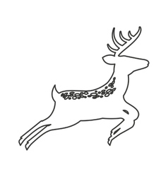 Reindeer winter animal icon vector