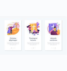 Religion app interface template vector