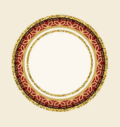 round cutout frame vector image