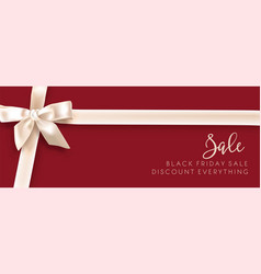 sale discount fashion promo white bow vector image