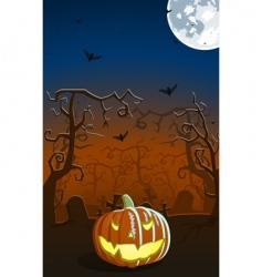 scary pumpkin vector image