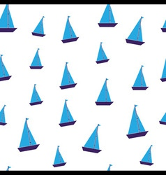 seamless blue toy boats vector image