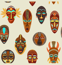 seamless pattern flat colorful african ethnic vector image