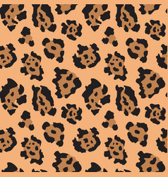 seamless pattern with jaguar skin endless vector image
