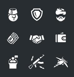 set turkey icons vector image