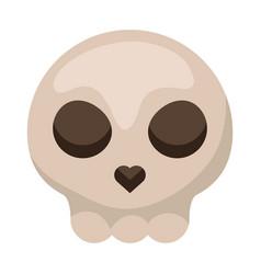 Skull head halloween isolated icon vector