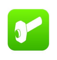 sledgehammer icon green vector image