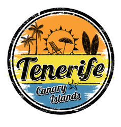 Tenerife sign or stamp vector