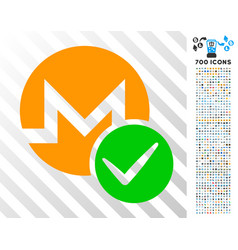 valid monero flat icon with bonus vector image