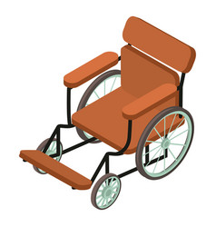 Wheelchair icon isometric 3d style vector