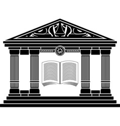ancient hellenic school vector image vector image
