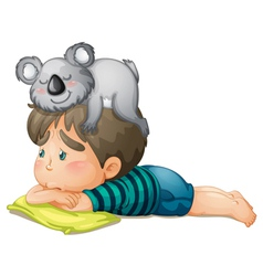 boy and bear vector image vector image