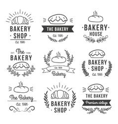 Hand drawn bakery label set vector