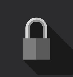 padlock in flat style vector image vector image