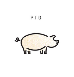 pig icon isolated vector image