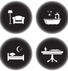set of icons for hotel services vector image vector image