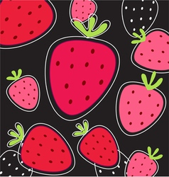 strawberry pattern vector image vector image