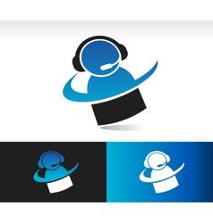 Swoosh customer service logo icon vector