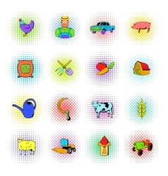 Agriculture icons set vector image