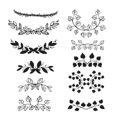 Elegant floral decorative elements set with vector image vector image