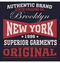 new york sport t-shirt vector image vector image