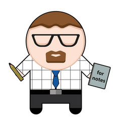 profession character office worker vector image
