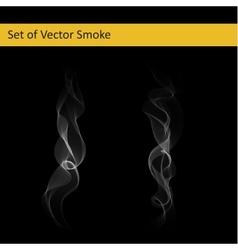 Set of cigarette smoke vector image
