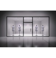 Store Interior With Mannequins vector image vector image