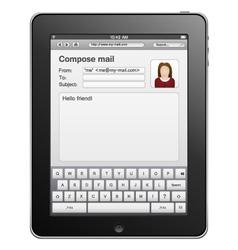 Tablet computer vector
