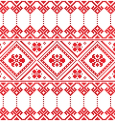 Ukrainian folk art floral embroidery pattern vector image vector image