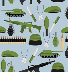 Army seamless pattern Arms background Tanks and vector image