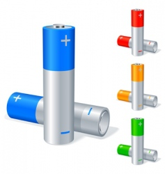 batteries vector image vector image
