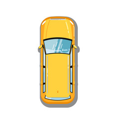 modern universal car top view icon vector image