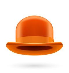 Orange bowler hat vector image vector image