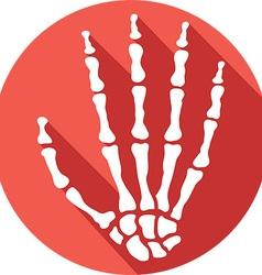 Skeleton Hand Icon vector image vector image