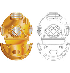 diving helmet vector image