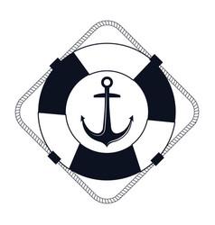 icon lifebuoy nautical label isolated vector image vector image