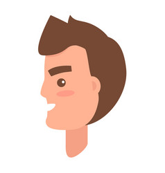 male character face from sideview vector image